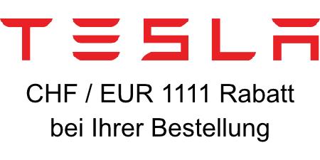 Sparen Sie 1111,– bei Bestellung eines Teslas